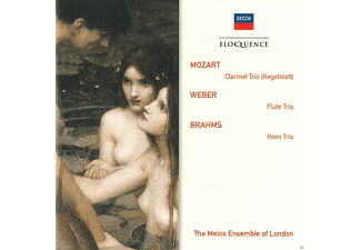 The Melos Ensemble Of London - Mozart: Klarinet Trio (Kegelstatt) / Weber: Flute Trio / Brahms: Horn Trio - (CD)