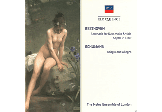 The Melos Ensemble Of London - Beethoven: Serenade For Flute, Violin& Viola / Schumann: Adagio And Allegro - (CD)