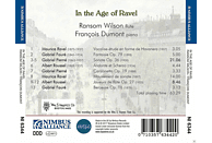 Ransom Wilson, Francois Dumont - In the Age of Ravel [CD]