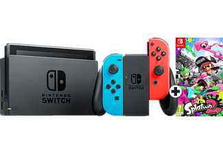 NINTENDO Switch Rood en Blauw + Splatoon 2