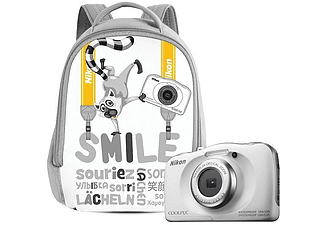 NIKON COOLPIX W100 White Backpack Kit