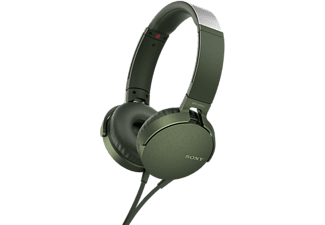 SONY Casque audio On-ear EXTRA BASS Groen (MDRXB550APG.CE7)