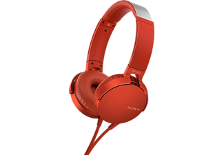 SONY Hoofdtelefoon On-ear EXTRA BASS Rood (MDRXB550APR.CE7)