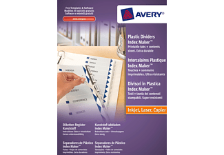 AVERY ZWECKFORM 5113081, Etiketten-Register