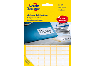 AVERY ZWECKFORM 3311, Mini-Organisations-Etiketten