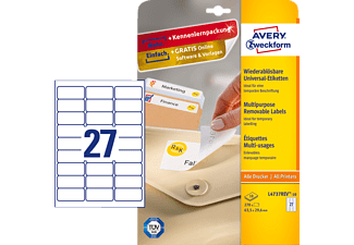 AVERY ZWECKFORM L4737REV-10, Universaletiketten