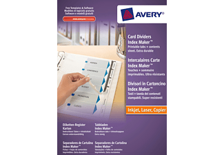 AVERY ZWECKFORM 1812061, Etiketten-Register