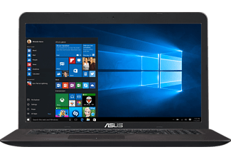 ASUS F756UQ-T4146T, Notebook mit 17.3 Zoll Display, Core™ i5 Prozessor, 8 GB RAM, 1 TB HDD, 256 GB SSD, NVIDIA® GeForce® 940MX, Dark Brown