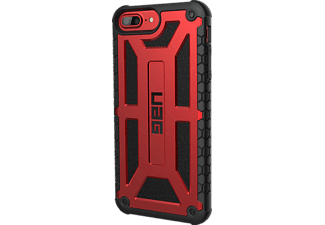URBAN ARMOR GEAR Monarch Case Handyhülle, Crimson/Black/Black, passend für Apple iPhone 7, iPhone 6s Plus