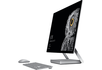 MICROSOFT Surface Studio, All-In-One PC mit 28 Zoll, 192 PPI Display, 1 TB Speicher, 16 GB RAM, Core™ i7 Prozessor, Silber/Schwarz