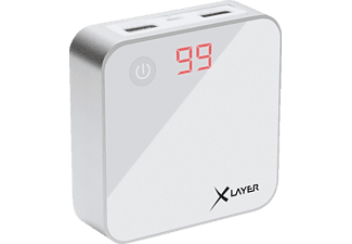 XLAYER X-Charger, Powerbank, 6000 mAh, Weiß