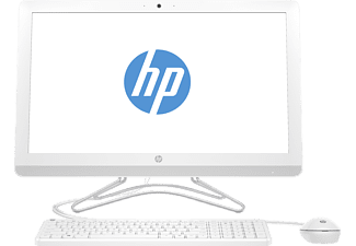 HP 24-e002ng, All-in-One-PC mit 23.8 Zoll Display, A9-9400 Prozessor, 8 GB RAM, 1 TB SSHD, Radeon™ R5, Weiß