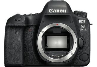CANON EOS 6D Mark II Body Spiegelreflexkamera, 26.2 Megapixel, Full HD, Touchscreen Display, WLAN, Schwarz