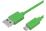 HYCELL Micro-USB Datenkabel/Ladekabel, Grün