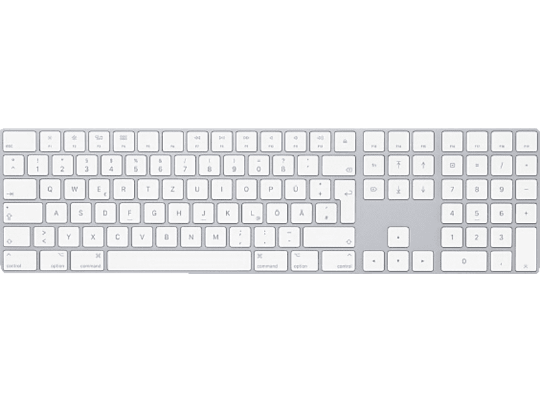 APPLE MQ052D/A Magic Keyboard mit Ziffernblock D, Bluetooth Tastatur