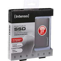 INTENSO Premium Edition, 128 GB SSD, 1.8 Zoll, extern, Anthrazit