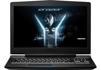MEDION ERAZER® X6603, Gaming Notebook mit 15.6 Zoll Display, Core™ i7 Prozessor, 16 GB RAM, 256 GB SSD, 1 TB HDD, GeForce GTX 1050 Ti, Schwarz