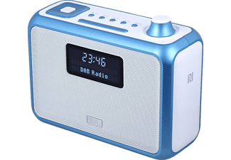 AUGUST INTERNATIONAL MB400L, Tragbares Stereoradio und MP3 Player, UKW, FM, Blau