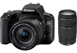 CANON Appareil photo reflex EOS 200D + 18-55mm + 75-300mm (2250C025AA)