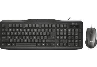 TRUST Clavier + souris Classicline AZERTY BE (22064)