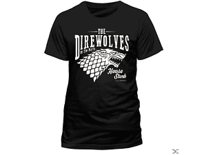 Game Of Thrones - Direwolves (T-Shirt,Schwarz,Größe L)