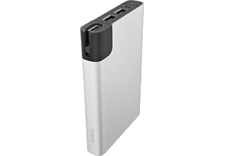 PowerBank - Belkin Power RockStar 10000, 2 puertos USB, 10000 mAh, plata