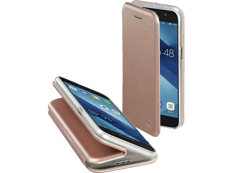 HAMA Curve Bookcover Samsung Galaxy A5 (2017) Polyurethan/Thermoplastisches Polyurethan Rosegold
