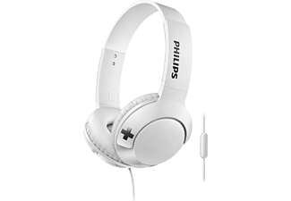 PHILIPS Casque audio On-ear Bass+ Blanc (SHL3075WT/00)