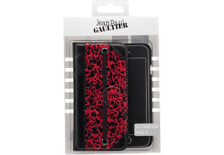JEAN PAUL GAULTIER 2in1 Folio case Paris Handyhülle, Rot/Schwarz, passend für Apple iPhone 6, 6S