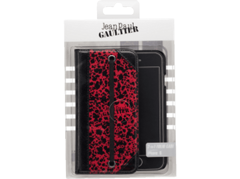 JEAN PAUL GAULTIER  2in1 Folio case Paris Bookcover Apple iPhone 6, 6S Rot/Schwarz | 03571211297826