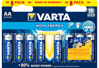 VARTA High Energy AA 8-pack