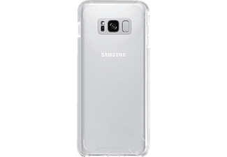 SPADA Military Shock Proof Cover Handyhülle, Transparent/Weiß, passend für Samsung Galaxy S8+