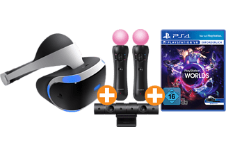 SONY PlayStation VR + Kamera + Move Motion-Controller Twin Pack + VR Worlds