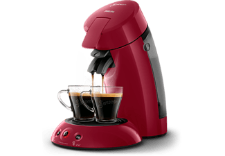 PHILIPS Senseo Original Kaffeepadmaschine HD6554/90, rot