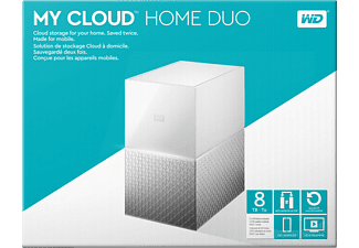 WD My Cloud™ Home Duo, 8 TB, 3.5 Zoll, NAS, Weiß