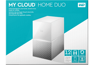 WD My Cloud™ Home Duo, 12 TB, Weiß, 3.5 Zoll