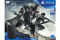 SONY PlayStation 4 Slim 1TB Schwarz + Destiny 2 + 2. DualShock4 Controller + Thats You Vouche