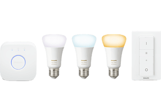 PHILIPS Hue Starter Kit White Ambiance LED 9.5W, E27, 3er