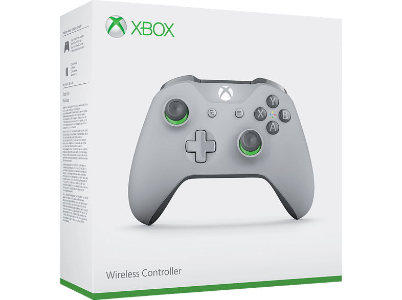 MICROSOFT Xbox One Wireless Controller, Grau/Grün