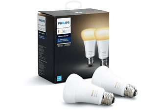 PHILIPS Hue LED White Ambiance 9.5W, E27, Doppelpack