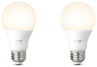 PHILIPS Hue LED White 9.5W, E27, Doppelpack