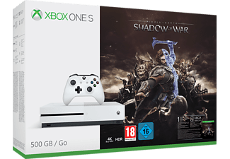 MICROSOFT Xbox One S 500 GB + Middle-earth: Shadow of War