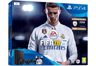 PLAYSTATION PS4 Slim 1 TB Noir + FIFA 18 + manette extra