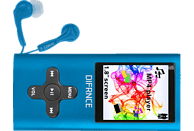 DIFRNCE DF-MP 1851 Mp4-Player (4 GB, Blau)