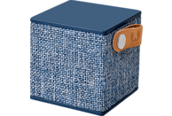 FRESH N REBEL Rockbox Cube Fabriq Edition Bluetooth Lautsprecher, Blau