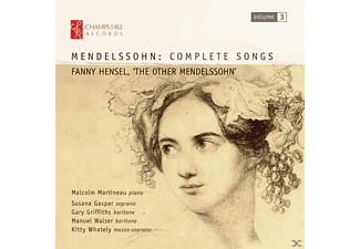 Malcolm Martineau, Susana Gaspar, Gary Griffiths, Manuel Walser, Kitty Whately - Mendelssohn: Complete Songs - (CD)