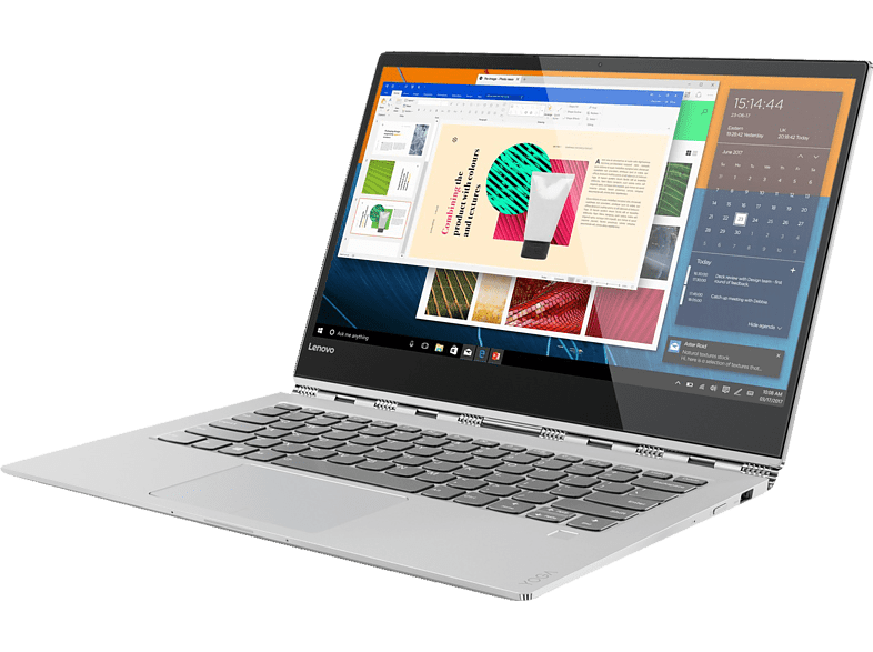 LENOVO  Yoga 920 Glass , Intel®Core™ i7, 512 GB SSD, 8 GB RAM, Platinum Silber und Glas-Design | 00192076515998