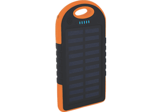 XLAYER PLUS Solar, Powerbank, 4000 mAh, Orange/Schwarz