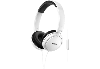 PHILIPS SHL5005/00, On-ear Kopfhörer, Headsetfunktion, Weiß