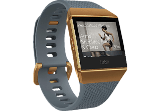 FITBIT Ionic, Fitness-Smartwatch, Elastomer, S/L, Slate Blue/Burnt Orange